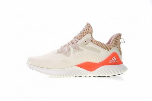 Adidas Alphabounce Beyond Running Shoes Beige Orange Sneakers CG4763