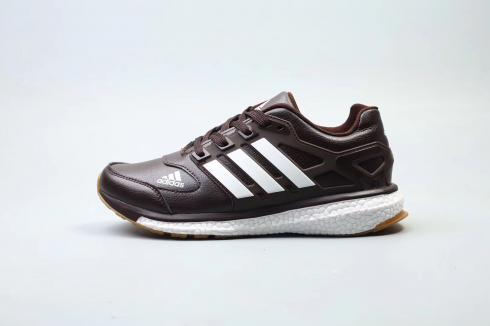 Adidas Energy Boost Deep Brown White