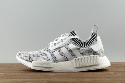 size 40 a40bf 9d4d2 Adidas NMD R1 PK Primeknit Nomad Oreo Glitch Camo Black White BY1911