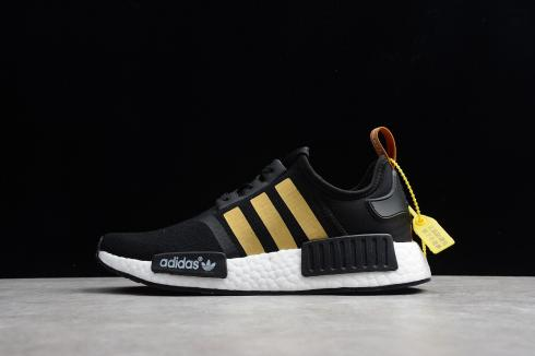 Adidas NMD R1 Running Shoes Grey Gold Sneakers B37651