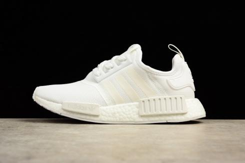 Adidas Nmd R1 Triple White Boost Sneakers Ba7245 Yezshoes