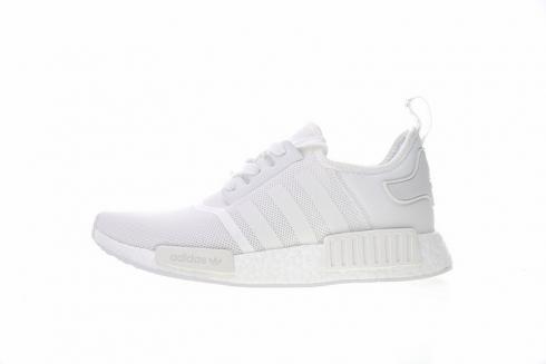 Adidas NMD R1 White Black Sneakers
