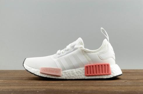 Adidas NMD R1 White Pink Athletic Shoes