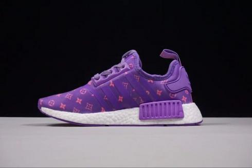 SUPREME X Adidas NMD R1 Purple Sneakers BA7674