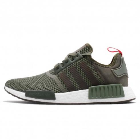 factory outlet low cost info for adidas NMD R1 Base Green Night Cargo Solar Orange B37620 - Yezshoes