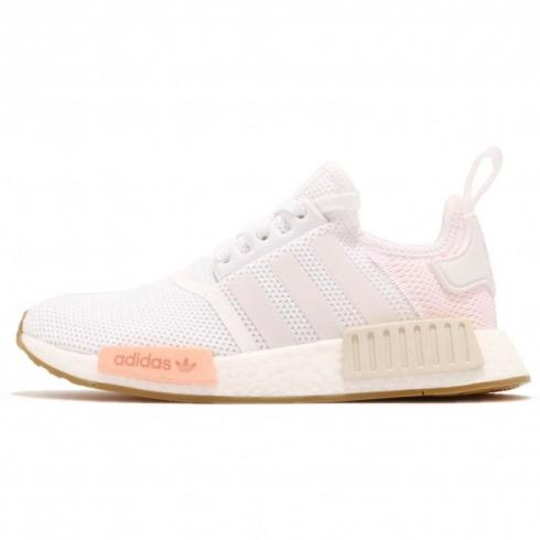 adidas WMNS NMD R1 Cloud White Clear Orange Linen BC0237