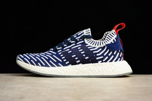 Adidas NMD R2 Primeknit Navy White Red BB2909
