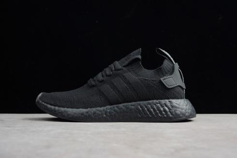 Adidas NMD R2 Primeknit Triple Black Sneakers BY9525