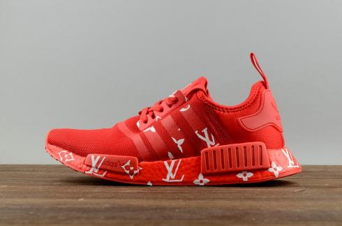 Adidas Nmd X Lv Red Mens And Womens Running Shoes S70160 Yezshoes