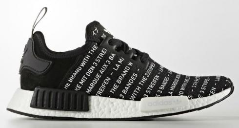 adidas NMD Blackout Whiteout - Black Core FTWR S76519