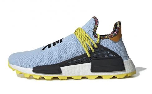 Pharrell x adidas NMD Hu Inspiration Clear Sky Core Black Bold Orange EE7581