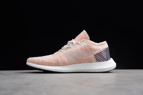 Adidas Pure Boost GO Pink White Blue Shoes AH2326
