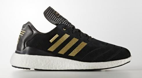 adidas Busenitz Pure Boost - 10th Anniversary Core Black Gold Metallic Footwear White F37886