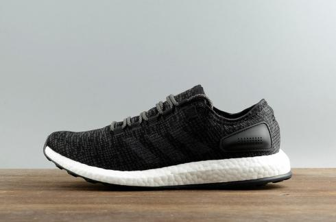 size 40 7c48c 9ee9d Adidas Pureboost Clima China Primeknit Black Grey Men Running Shoes S77190