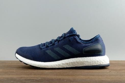 Adidas Pureboost Clima China Primeknit Blue Men Running Shoes S77191