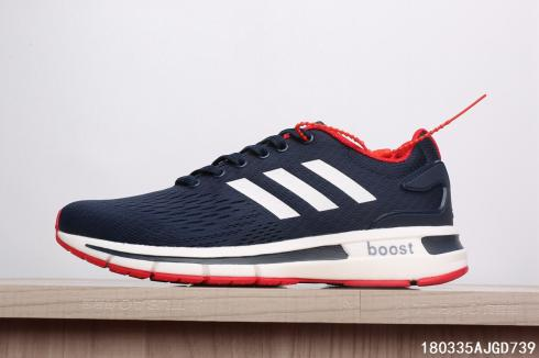 Adidas Questar Boost Deep Blue White Red