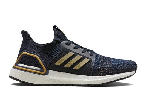 adidas Consortium Ultra Boost 2019 Navy Gold Legendary Ink Metallic Bright Red EE9447
