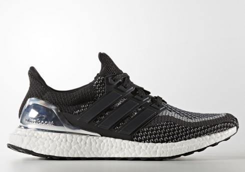adidas Ultra Boost GS Silver Medal Core Black Metallic BA9615
