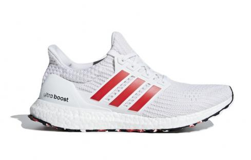 adidas Ultra Boost 4.0 Red Stripes Cloud White Active Chalk DB3199