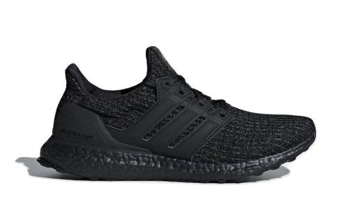 adidas Ultra Boost 4.0 Triple Black Core Active Red F36641