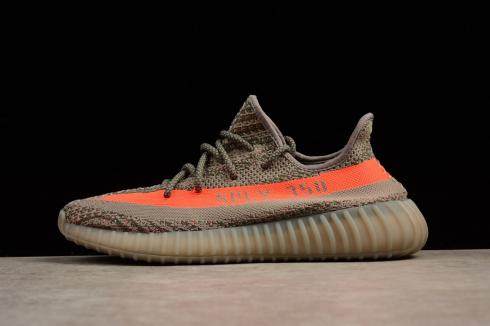 hot sale online 983ce 21541 Adidas Yeezy Boost 350 V2 Grey Bold Orange BB1826