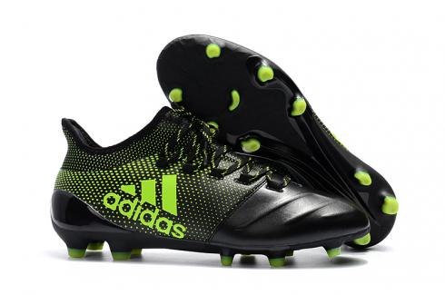 Adidas ACE 17 Purecontrol FG Leather Black Green New