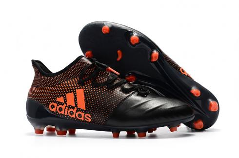 Adidas ACE 17 Purecontrol FG Leather Black Red New