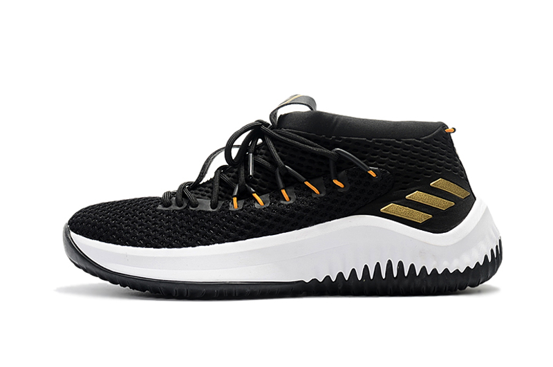 adidas dame 4 black white