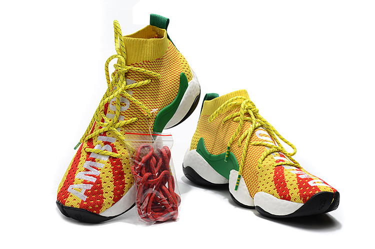 competitive price b88e0 c5021 Pharrell Adidas Crazy BYW PW Boost Yellow Red White