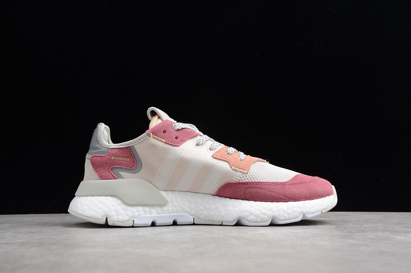 sale usa online new arrive exquisite style Adidas Nite Jogger 2019 Boost 3M Grey Light Pink Red White DA8666