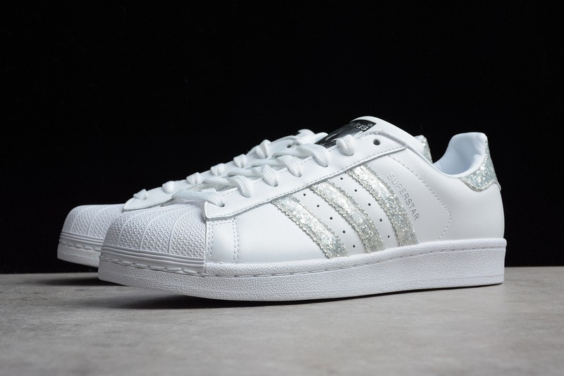 Adidas Superstar Glitter Silver White Shoes SNEAKERS S76923