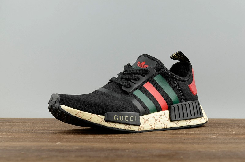 La playa Bocadillo Nadie  Adidas NMD Custom X Gucci Black Green Red S70166 - Yezshoes