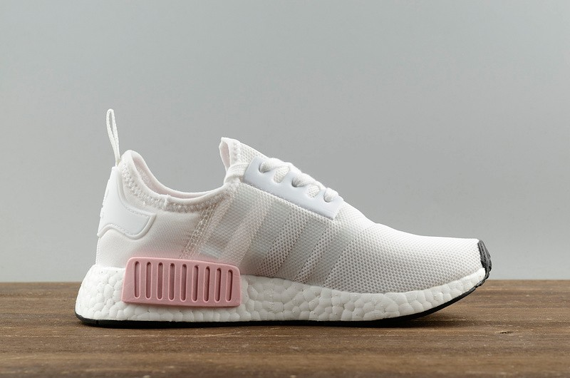 Adidas Nmd R1 Footwear White Pink Womens Running Shoes By1916