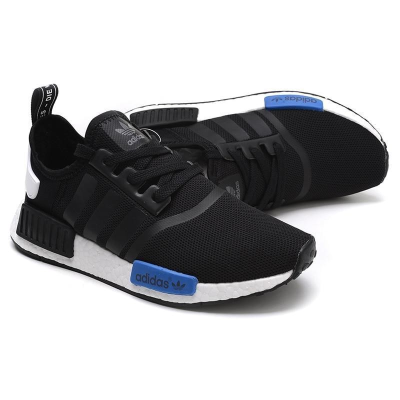 buy popular 8d7c7 01d88 Adidas NMD R1 Runner Nomad Boost Core Black Blue Tab Tokyo White Mesh S79162