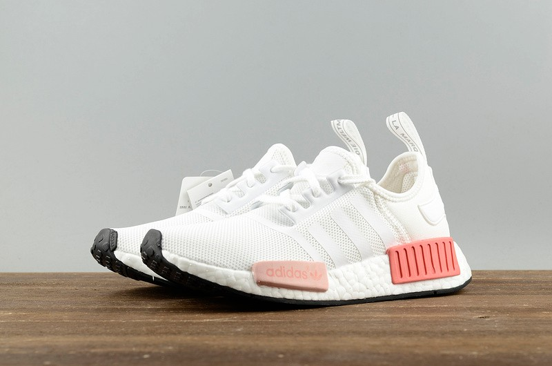 big sale 98493 74a1a Adidas NMD R1 White Pink Athletic Shoes BY9952