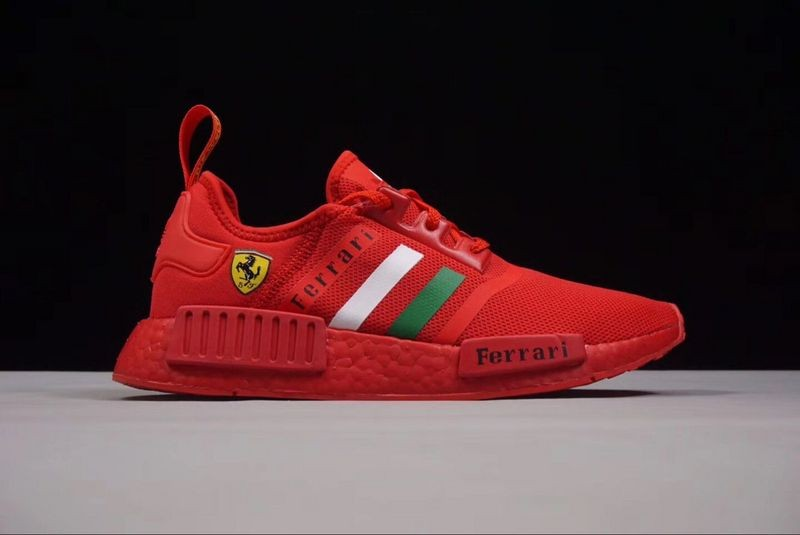 Ferrari X Adidas NMD R1 Boost Custom Running Shoes Triple Red BA7788