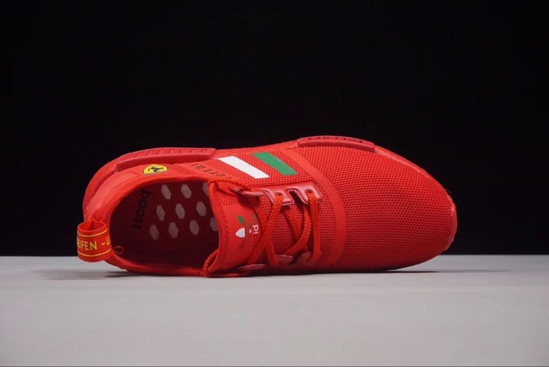 Ferrari X Adidas Nmd R1 Boost Custom Running Shoes Triple Red Ba7788 Yezshoes