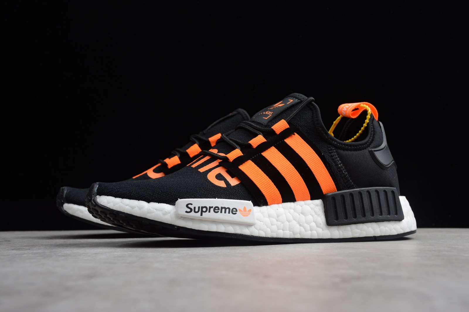 Supreme X Adidas Nmd R1 Black Orange White Da8867 Yezshoes