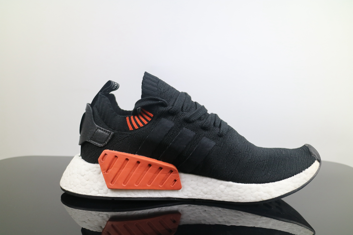 sports shoes 9be75 3ed9f Adidas NMD R2 Black White Red BB6859