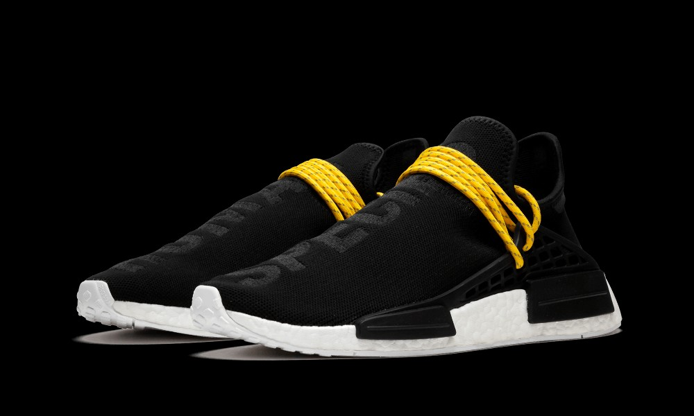 on sale c5c62 bd028 Adidas Pharrell Williams NMD Human Race Authentic Black Shoes BB3068