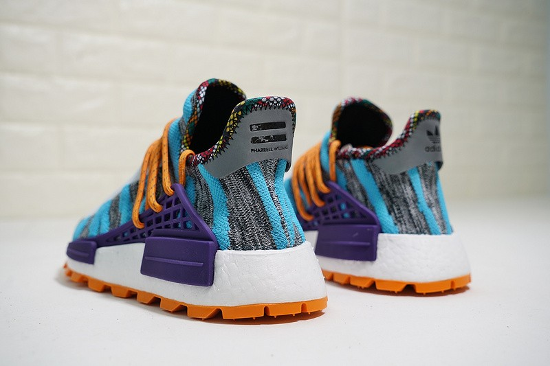 Pharrell X Adidas Nmd Human Race Trail Solar Pack Orange Purple